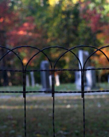 begraafplaats in het najaar