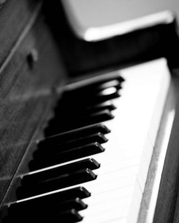 piano keys black and white Reklamní fotografie