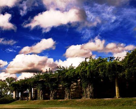 walkways under the clouds