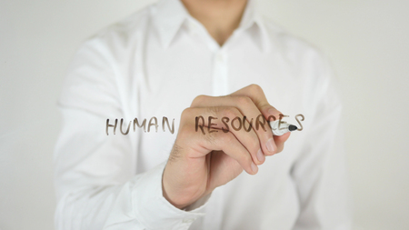 Human Resources, Written on Glass by Man in Studio