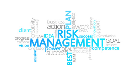 Risk Management, Animated Typography, word cloud concept illustration Stock Photo