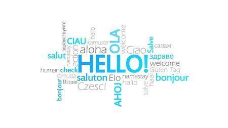 Hello!, Typography Animation, word cloud concept illustration Stock Illustration - 87852968