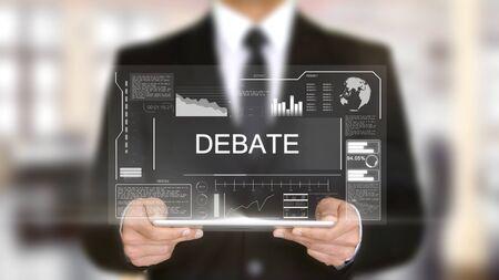 Debate, Hologram Futuristic Interface, Augmented Virtual Reality