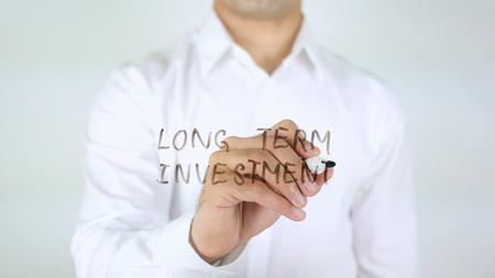 Lange termijn Investering, Man Schrijven Op Glas