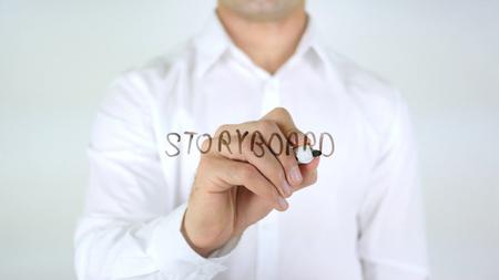 Storyboard: Storyboard, Man Writing on Glass