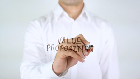 Value Proposition, Man Writing on Glass