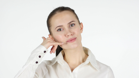 Call Us for Help, Gesture by Woman