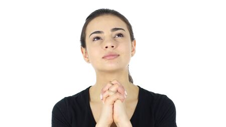 Praying, Portrait of Woman in Need of Help