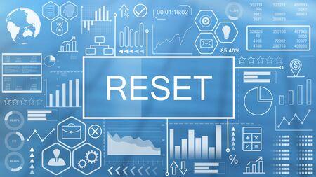 Reset, Animated Typography Stock Photo