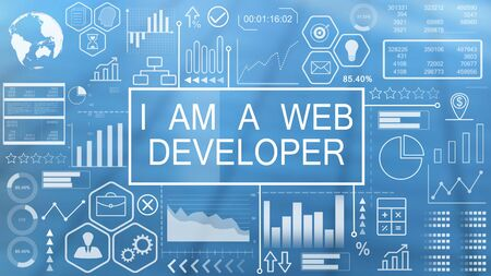 I am a Web Developer, Animated Typography Stok Fotoğraf