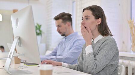 Shocked Creative Woman Reacting to Failure