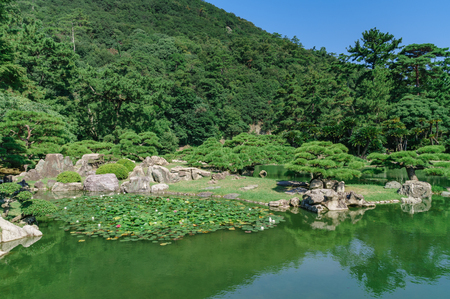 Japanese landscape-takamatsu-tokushima-ritsurin koen