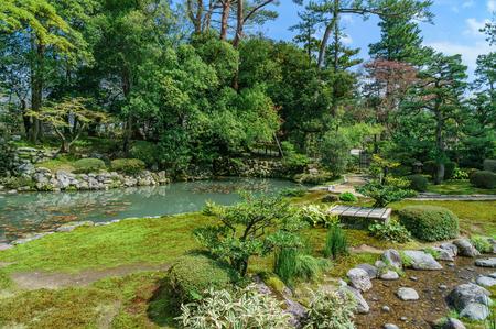Japanese landscape-kenrokuen-kanazawa-ishikawa Stock Photo