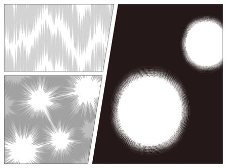 Set of Manga atmosphere design elements for background Illustration