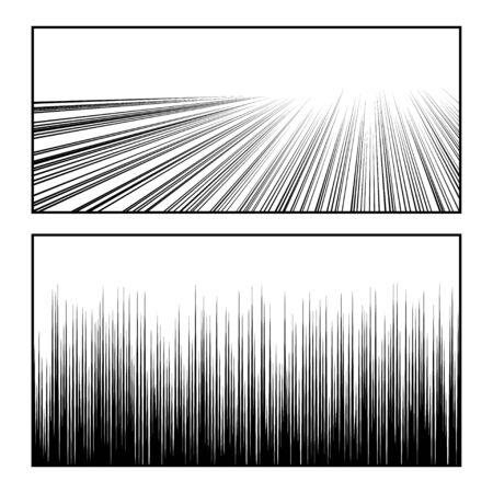 Manga speed lines set for design uses  イラスト・ベクター素材