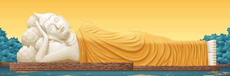 Wat Lokaya Sutha landmark illustration in Thailand