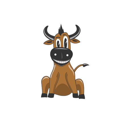 Funny Buffalo Vector