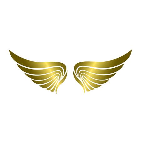 Luxury Gold Wing Illustration