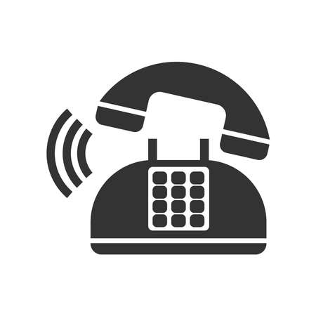 Phone icon vector illustration. Telephone and Mobile Phone symbol. Isolated on a blank background. Editable and changeable color. Minimalist and simple design.