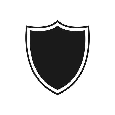 Shield icon vector. Security icon. Protection icon. Safety system. Protection activated. Logo template. Virus protection. Black icon isolated on a blank background. Can be edited and changed colors.