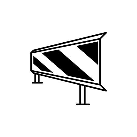 Guardrail or Road barrier vector collections. Simple and isolated style on a blank background. Colors can be edited.