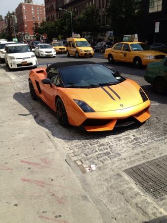 lamborghini: Lamborghini parked near high-line New York   Stock Photo