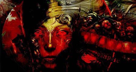 raider: Red Demon Stock Photo