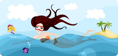 diver Stock Vector - 9554512