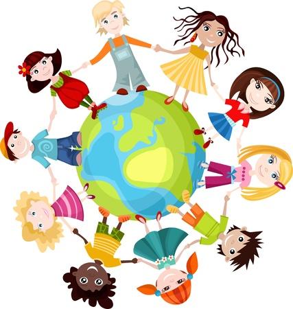 children of the world Stock Vector - 9534089