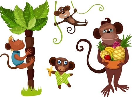 silueta mono: mono conjunto