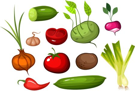 salat: vegetable set Illustration
