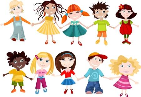 paz mundial: niños a establecer