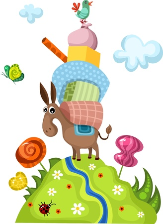 transport of goods: donkey