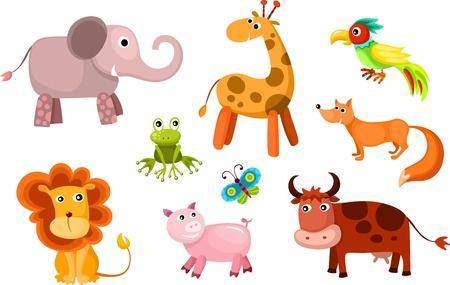 set vector dieren