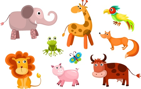 vector animals set Stock Vector - 14613233