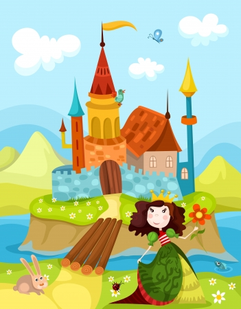 castle and princess Stock Vector - 15039536