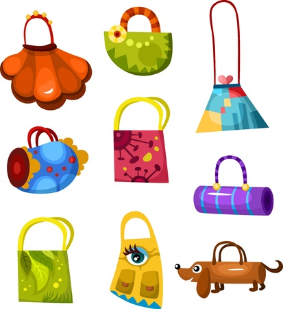 illustration set of bags Illustration