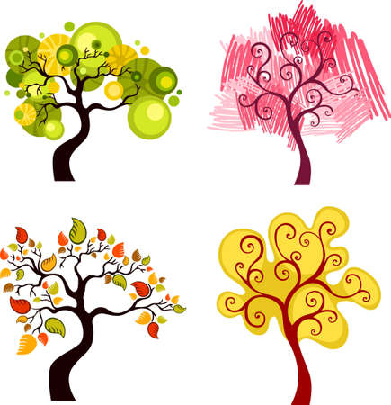 trees set Illustration