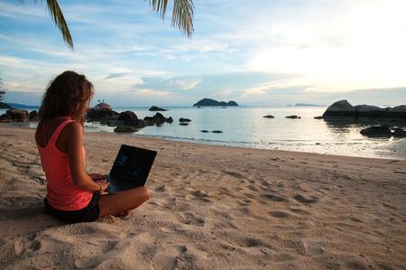 beach laptop