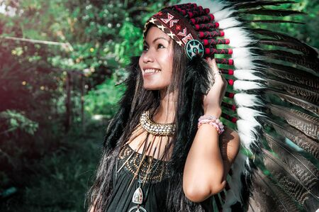 ceremonial clothing: Indian girl