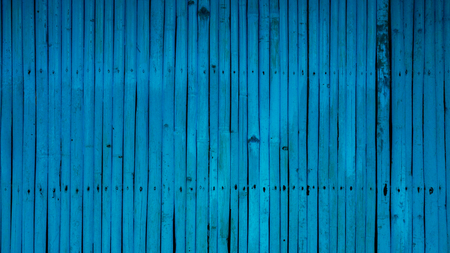 blue colored wooden fence, texture background