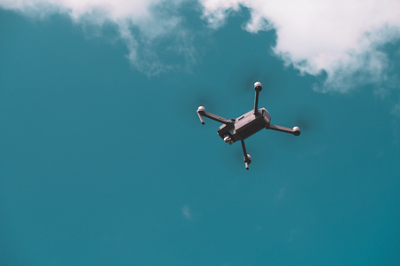 Drone on Blue sky background