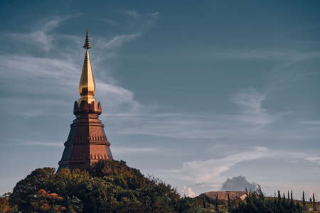 pagoda on the top in an Inthanon mountain, Chiang Mai Banque d'images