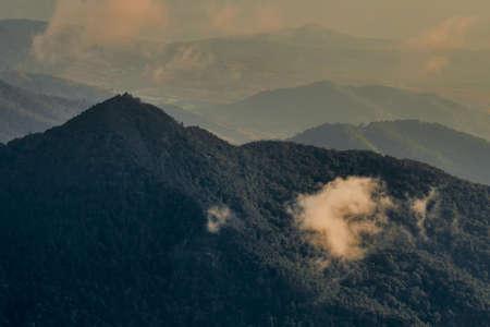 clouds over the Doi Inthanon mountain,Chiangmai Thailand.