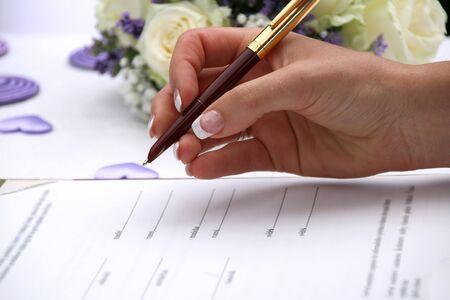 wedding writing