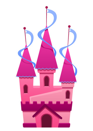highness: Illustration of a pink colored castle  house, background, home, king
