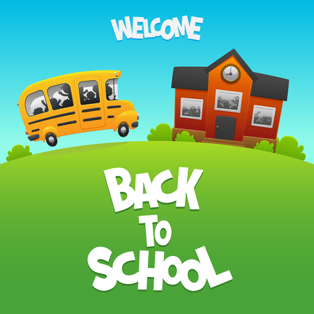 life event: Back to School bus carries children to study