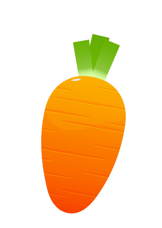 bright juicy carrot cartoon over white background isolated Illustration