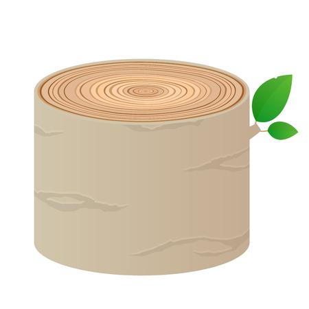 Wood cartoon log isolated vector objects tree material Vektorové ilustrace