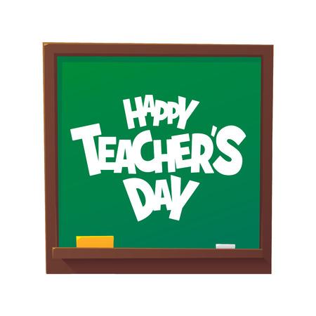 Happy Teachers Day cartoon blackboard vector illustration isolated 向量圖像
